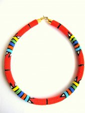 African Beaded Zulu Style Necklace