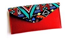 African Clutch Bags (Red and Multicolored)