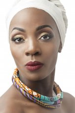 African Multi-Colored Ankara Tube Single Necklace